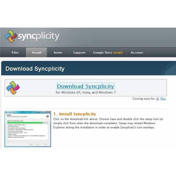 Syncplicity Install