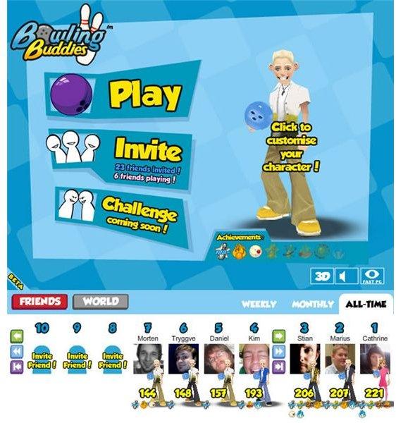 Bowling Buddies Blonde Guy