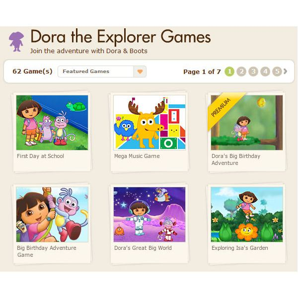 The Best Dora the Explorer Computer Games