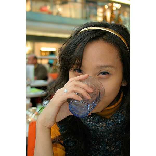 400px-Woman drinking water