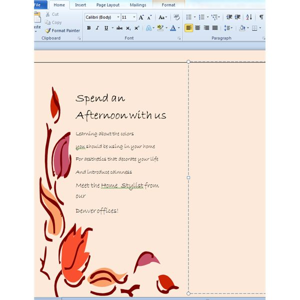 how to make a pamphlet on computer