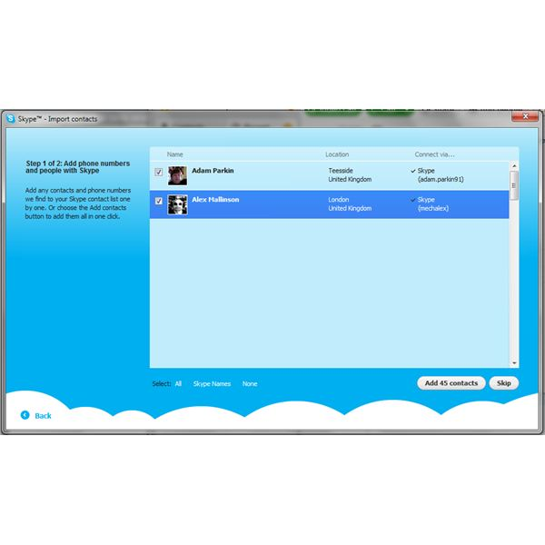Two-Way Integration with Facebook and Skype