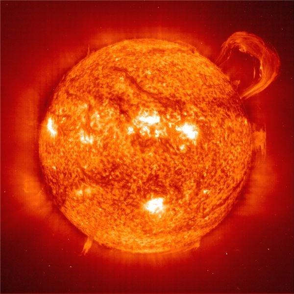 SOHO prominence image
