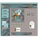 Webset Sample - Vintage Roses and Aqua Boot