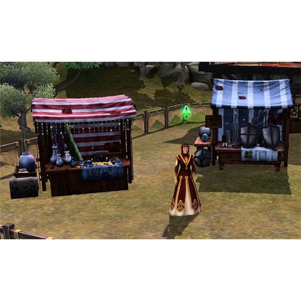 The Sims Medieval Merchant at Market