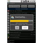 AndFTP For Android - Download Pop Up Screen