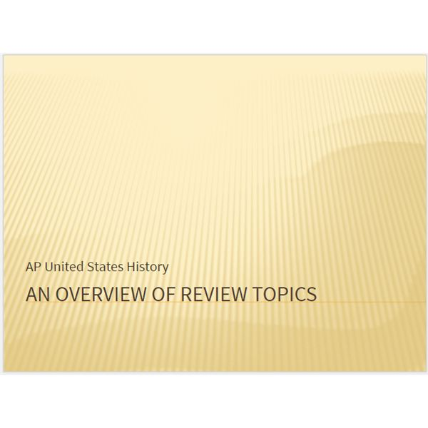 AP History Review PowerPoint - Download a Free AP History Review Resource