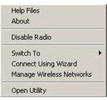 Dell Radio Context Menu Option