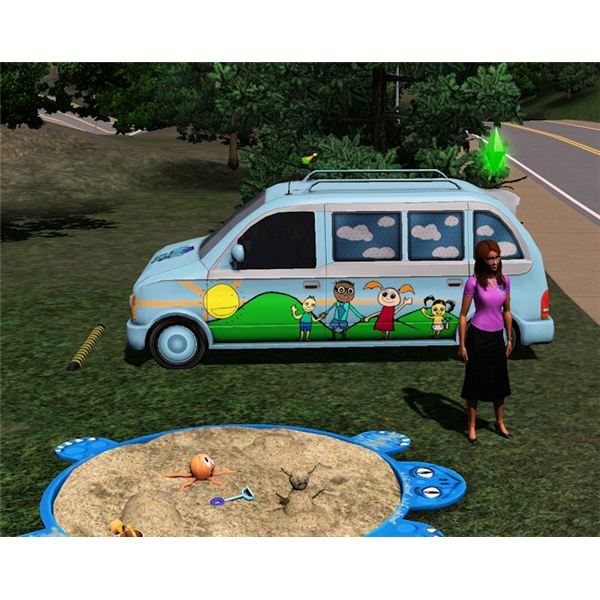 The Sims 3 daycare van reward
