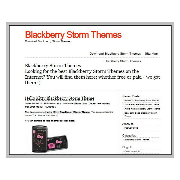 Blackberry Storm Themes