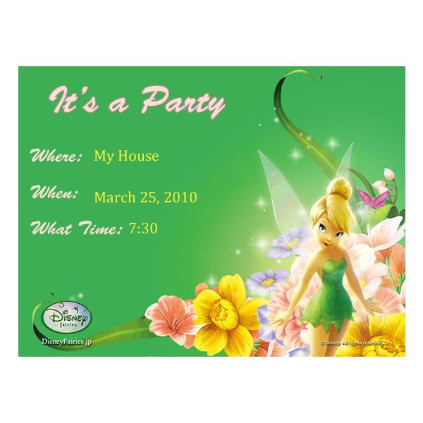 Free Tinkerbell Backgrounds for Scrapbooks, Greeting Cards, Invitations and More