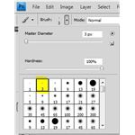 3 Pixel Hard Edge Brush