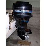 Outboard mounted on Transom from Wikipedia Commons by Tawker