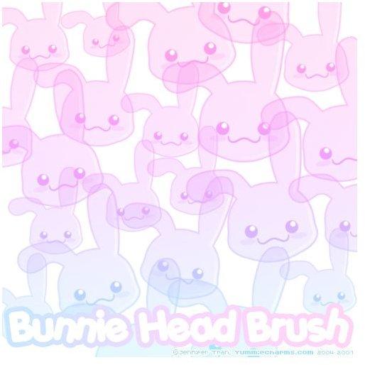 Bunnie Head Brushes by xlilbabydragonx
