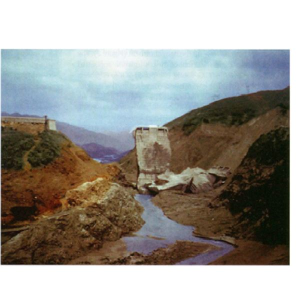 The remains of St Francis Dam from CH Lee Collection