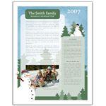 Holiday family newsletter.