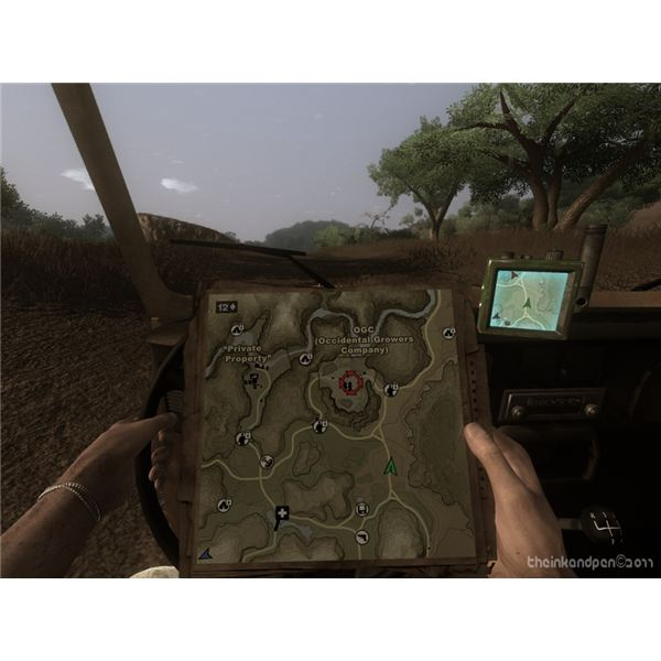 Far Cry 2 Map - Mission Location