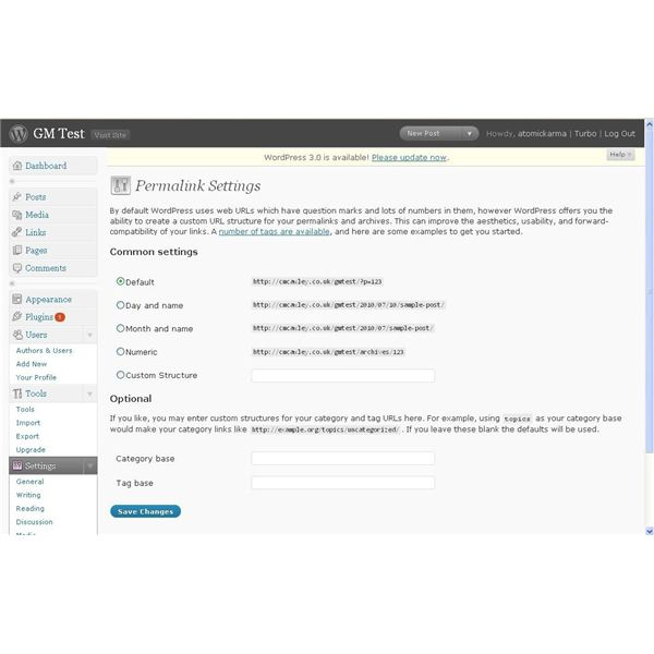 Change permalinks after you migrate b2evolution to wordpress