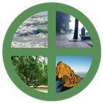 Terra symbol frame.