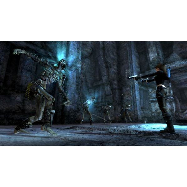 Mayan Thralls are slow, so keep Lara moving around and use sticky grenades to take care of Mayan Thralls