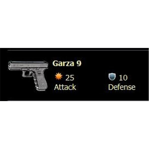 Screenshot of a Mafia Wars Loot Item: Garza 9