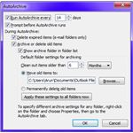 Fig 1 - Microsoft Outlook Archiving - Auto Archive Settings Dialog