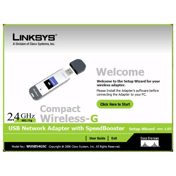 pilote linksys compact wireless-g usb adapter