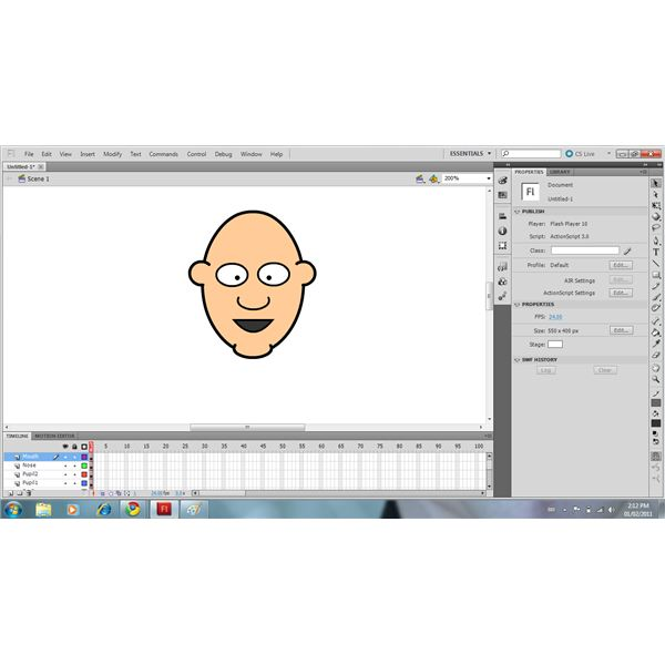 Use The Pencil Tool Or Oval Tool & Eraser To Draw The Mouth