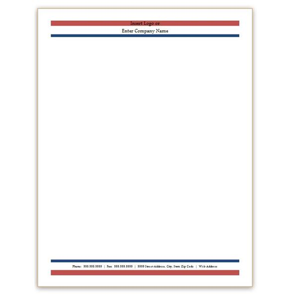 Six free letterhead templates for microsoft word business or red white and blue letterhead spiritdancerdesigns Images
