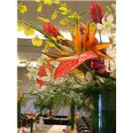 """Tropical wedding flowers arrangement"" by Jina Lee/Wikimedia Commons"