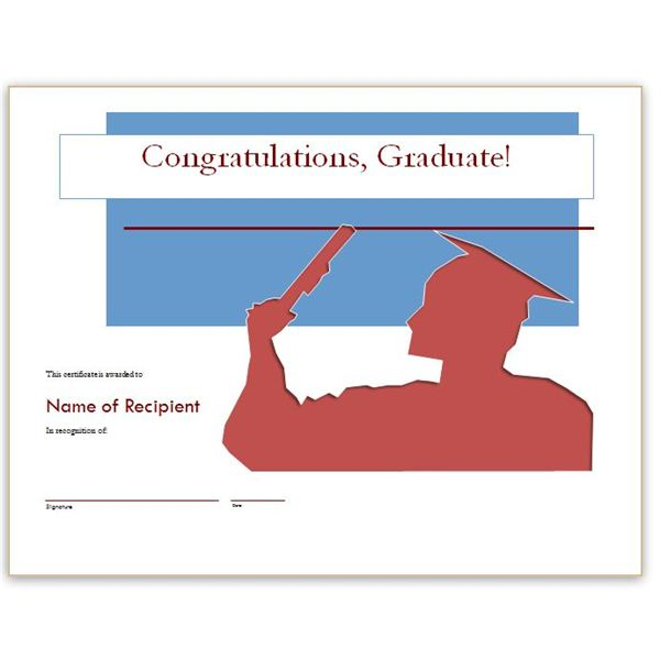Congratulatory Graduation Certificates Free Downloads For