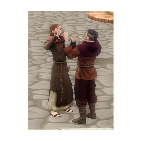 The Sims Medieval Peteran Priest Praying with Sim