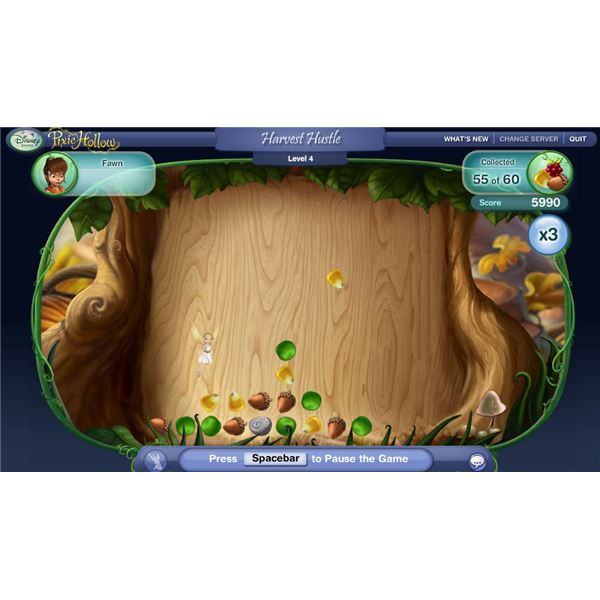Pixie Hollow Game Harvest Hustle