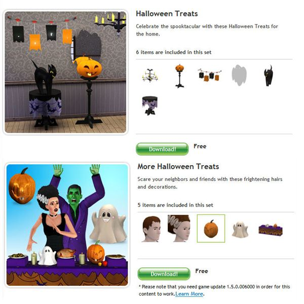 The Sims 3 Free Halloween Objects