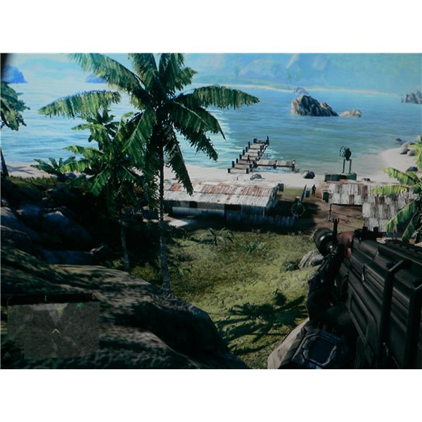The hill from where you can see the jamming device in Crysis.
