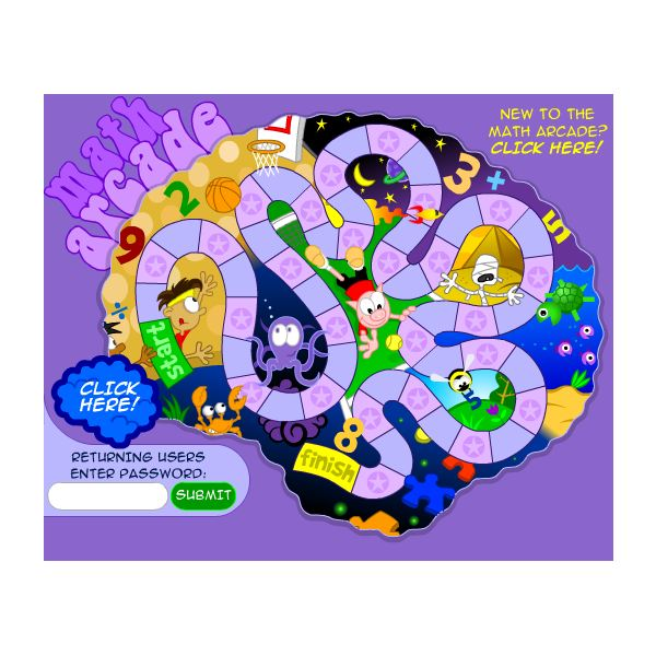 Fun Brain Math Arcade: Online Games for Gifted Children