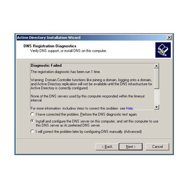 install and configure the DNS option