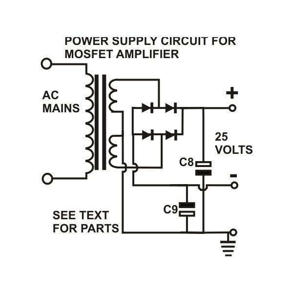 how to build a 100 watt mosfet amplifier circuit