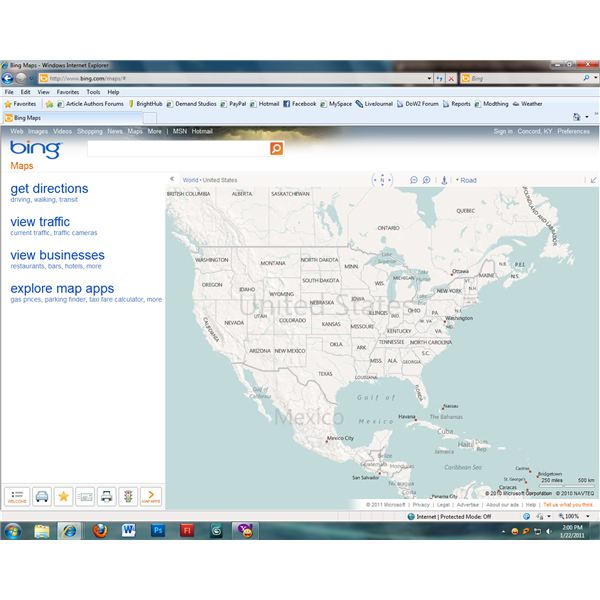 Using Windows Live Local Map Search