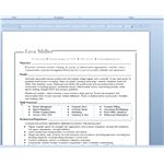 Resume, from Microsoft Word template