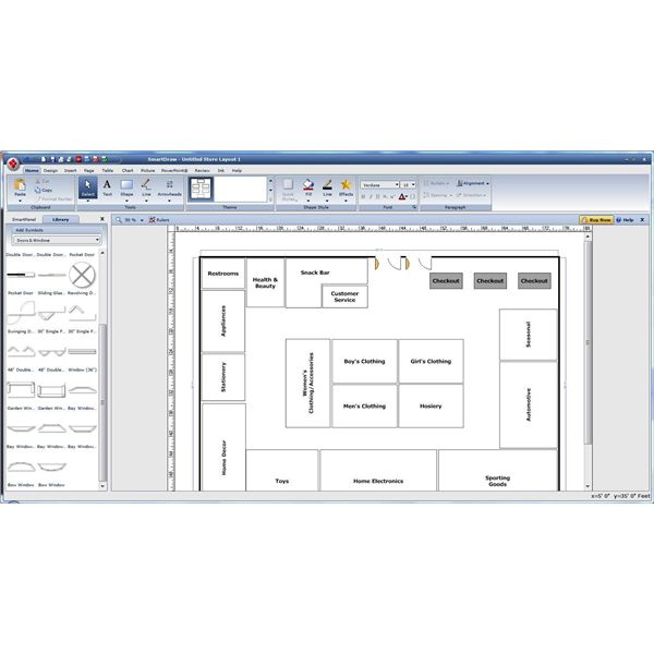 5 free floor plan software options for businesses smartdraw malvernweather Choice Image