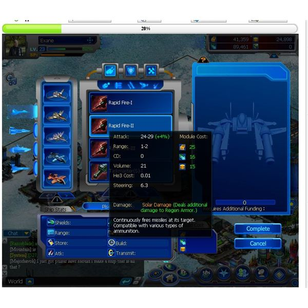 Galaxy Online II Game Guides: Building Your Ships