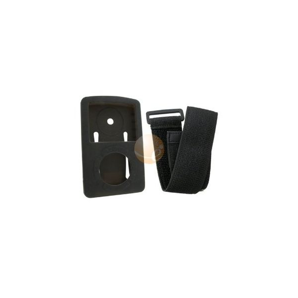Black Soft Skin Cover with Armband for SanDisk Sansa Fuze