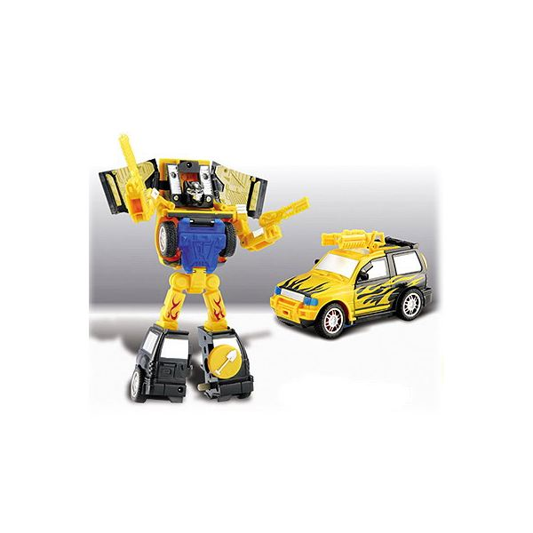 remote controlled car and robot transformer