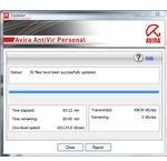 Avira AntiVir Finished to Installing the Manual Update