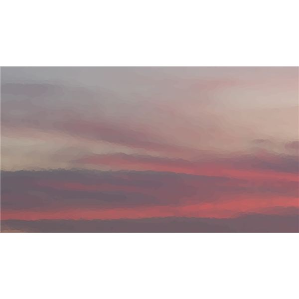 A painted sunset can add beauty to any number of projects