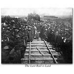 The Last Spike in the Transcontinental Railroad (Image Credit: The Virtual Museum of the City of San Francisco)