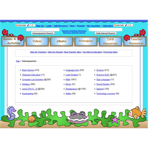 Free Educational Games Online: Gamequarium