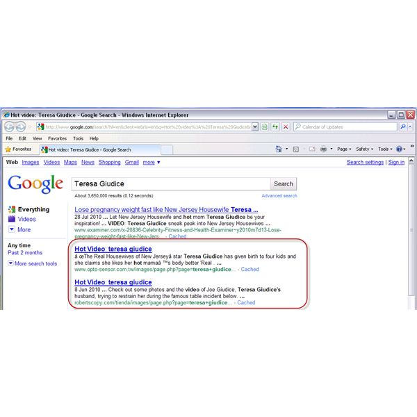 Blackhat SEO strategy by Phishers or Scammers