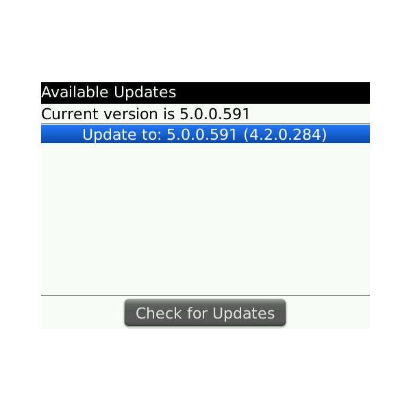 Update outdated BlackBerry Software